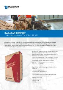 Produktbroschüre Dyckerhoff CEM II A-LL 42,5 N