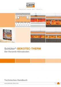 Produktbroschüre Schlüter-BEKOTEC-THERM